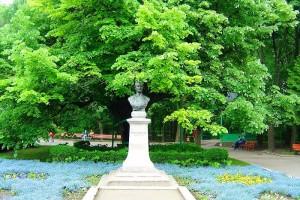 """Teiul lui Eminescu este un tei argintiu vechi de circa 250 de ani, aflat în Parcul Copou din Iași. Acest copac, denumit și """"copacul îndrăgostiților"""", este locul unde poetul Mihai Eminescu își găsea inspirația."""